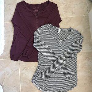 Henley Long Sleeve Shirt Bundles